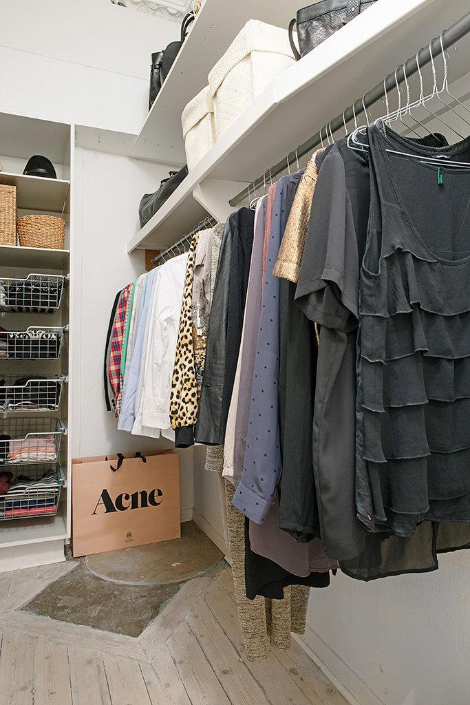 Closets Color Blanco y Gris Diseño Italiano Moderno de Madera