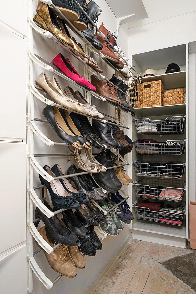 Closets para Zapatos en Espacios Pequeños con Aditamentos