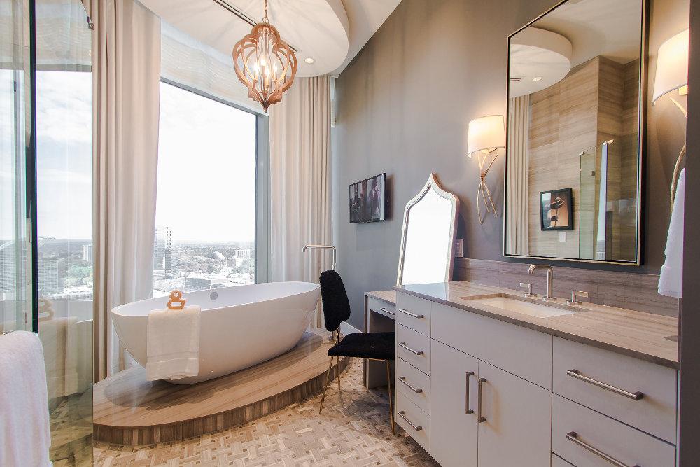 Diseño Baño Grande de Quarzo con Ducha Elegante Ideas 2016