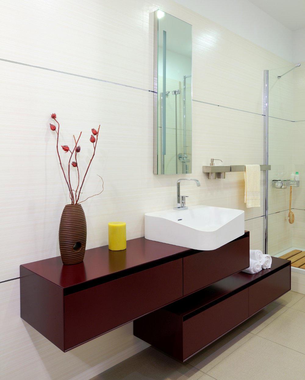 Baños Diseño de Interiores de Colores Morado Verde Azul Rojo