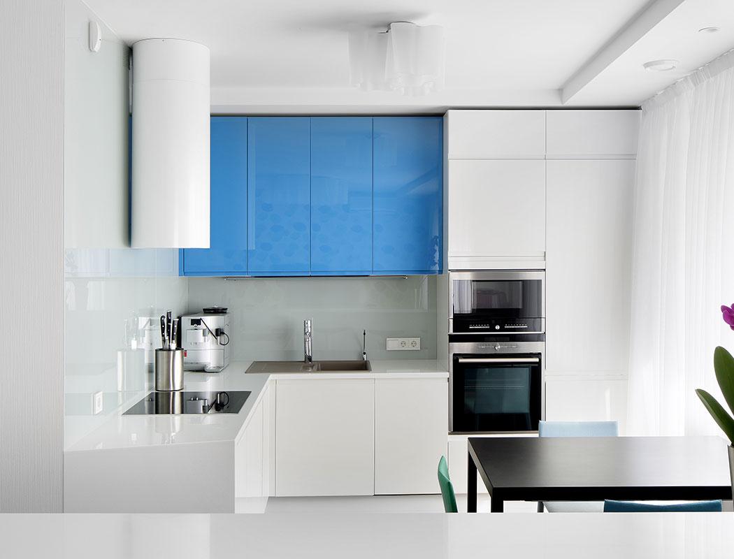 Diseño Ultra Moderno en Azul y Blanco con Parrilla de Inducción. Guadalajara
