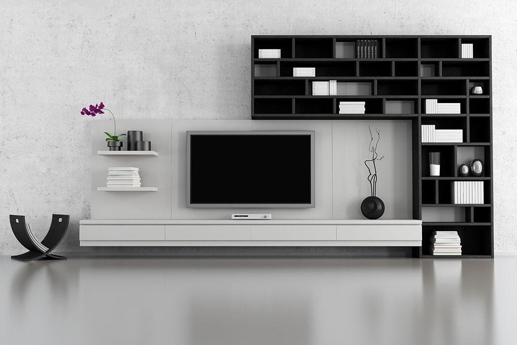 Diseño de Libreros y Muebles para Sala de Estar