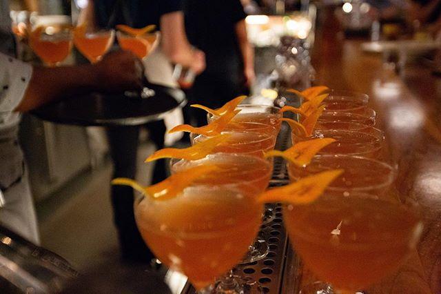 Scott Beattie's cherry fizz cocktail with Domaine Carneros brut vintage cuvée