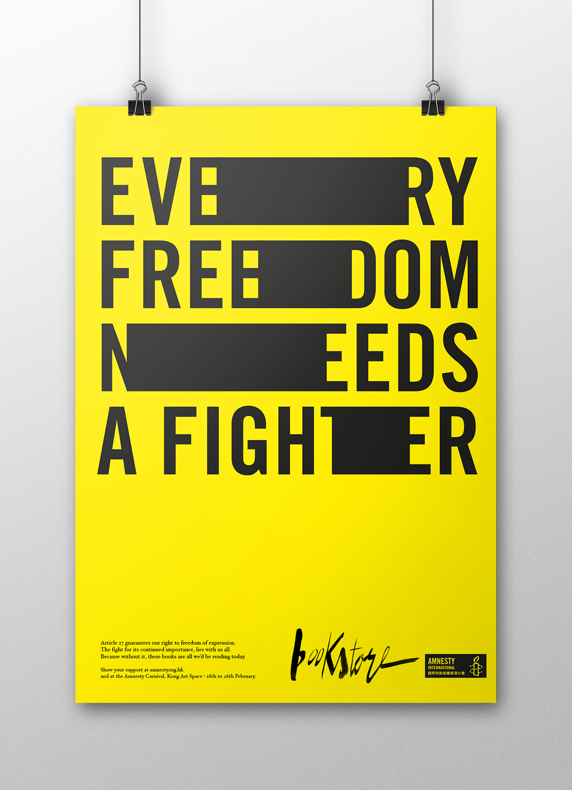 Mike Pearson Amnesty Design Poster