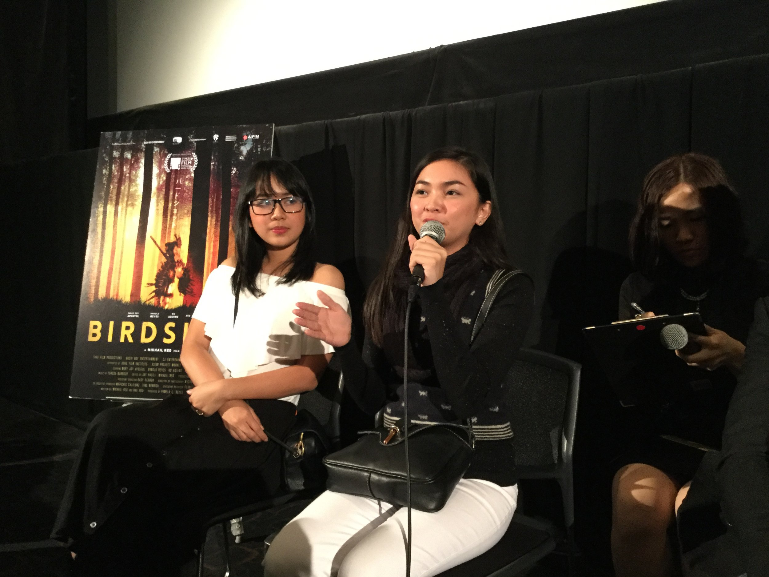 Birdshot  producer Pamela Reyes and actress Mary Joy Apostol