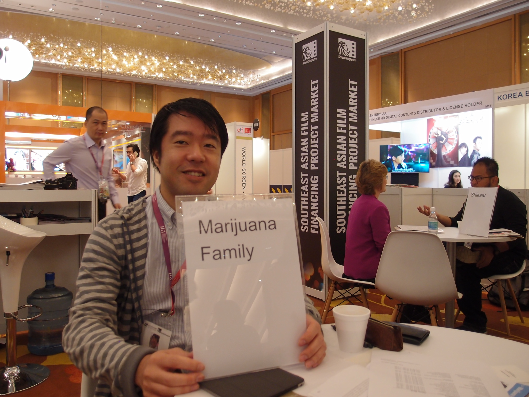 ワークショップと同時期に開催されていたSoutheast Asian Film Financing Project Marketにて次回作の売り込みもさせてもらいました。
