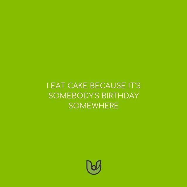 Some people drink because it's 5 O'Clock somewhere, others eat cake because birthdays are special and always happening. _ We fall into to the latter and are all about that cake life! _ Moderation is key in most things we do, but the struggle in moderating cake intake is the real daily battle 😁😂 . . . . . . . #ufoodi #ufoodifun #foodporn #blogger #foodie #yummy #foodblogger #deliciousfood #delicious #food #foodquoteslove #foodquotestoliveby #foodquotes #foodquotesarelife #foodgasm #hungry