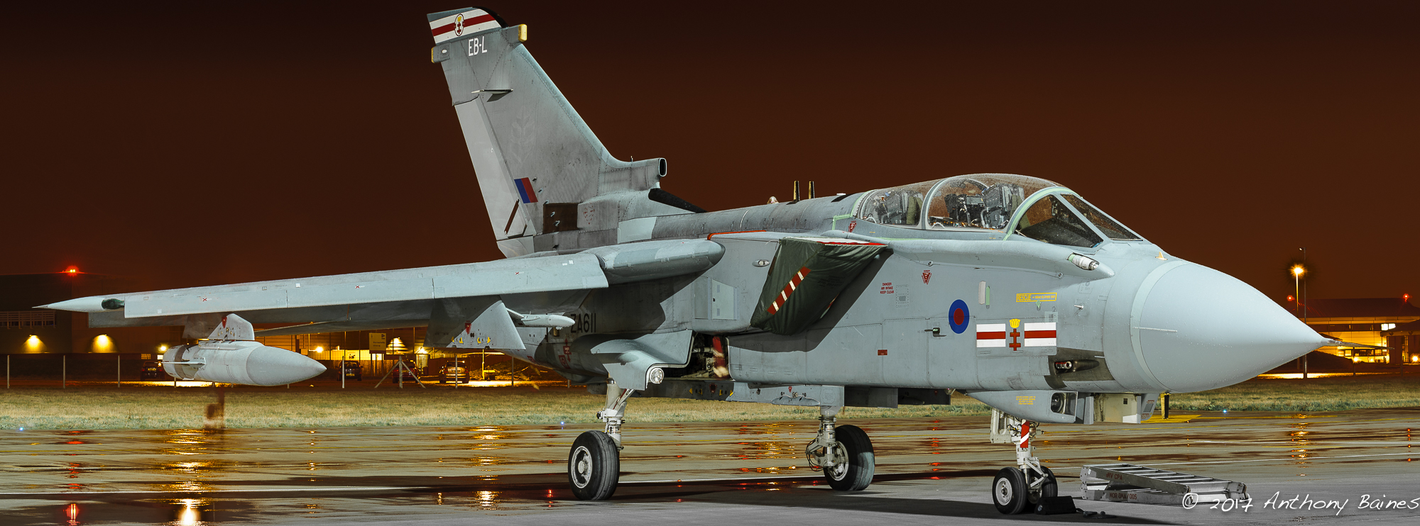Tornado GR4, EB-L, March 2010.  A   panorama of four overlapping pictures, stitched in Lightroom CC.