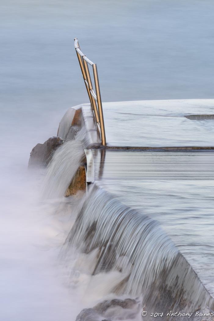 Bude sea bathing pool, dawn