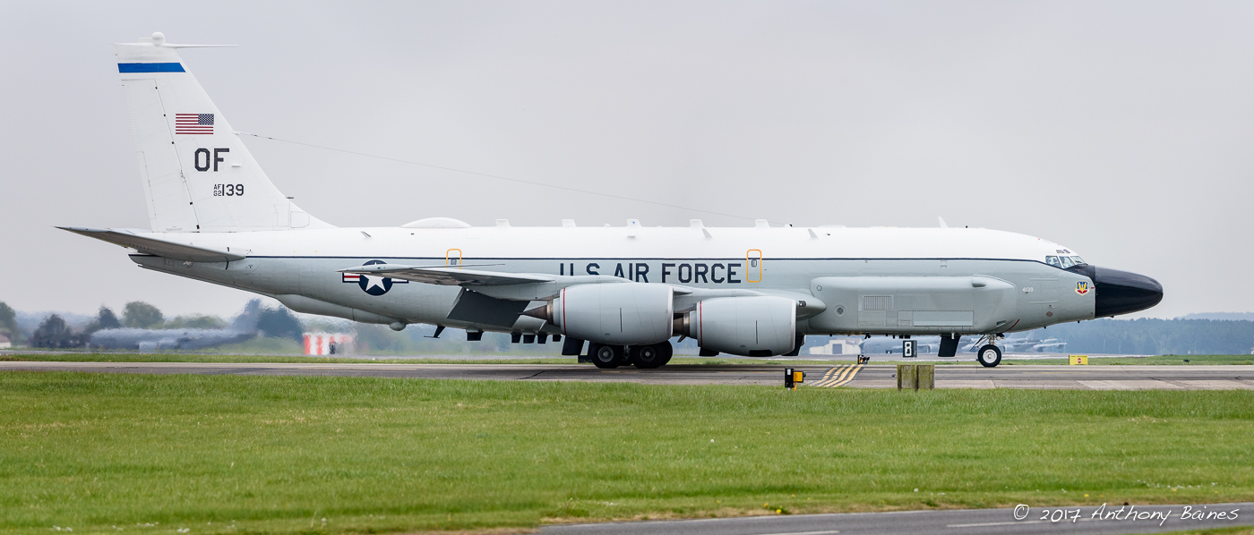 USAF RC-135W 62-4139 Rivet Joint of 38th RS, 55th Wing, Offutt, Nebraska currently operating out of RAF Mildenhall.