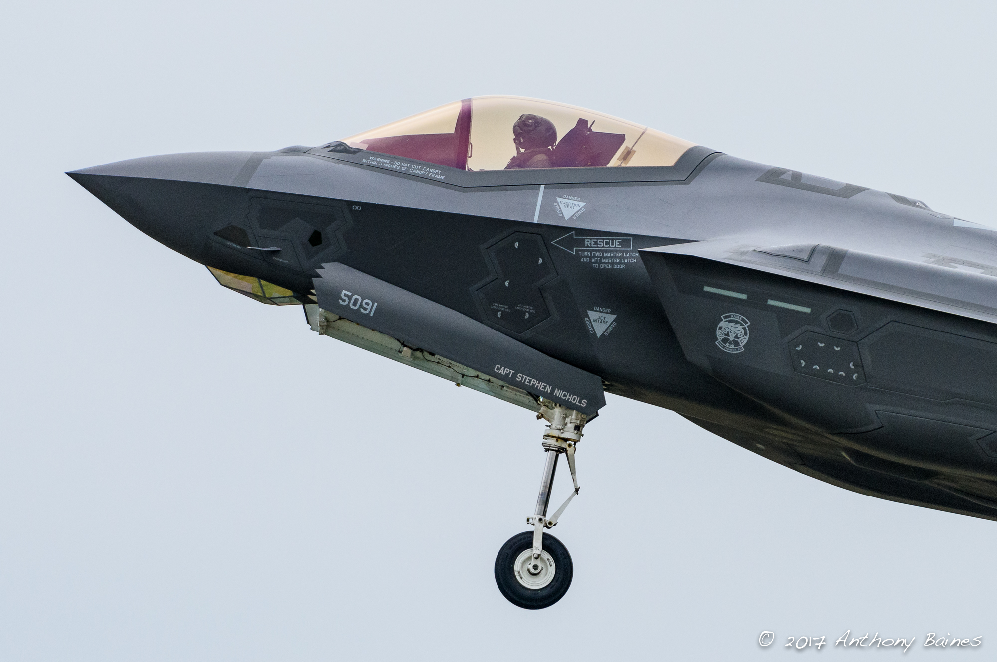 F-35A, cockpit region