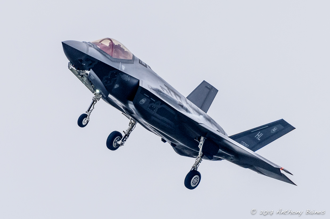 An F-35A returns