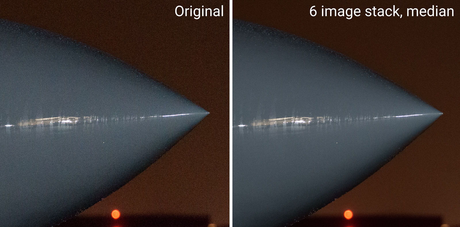 100% view of the effect of median noise reduction, from the second picture above. Click to view larger.
