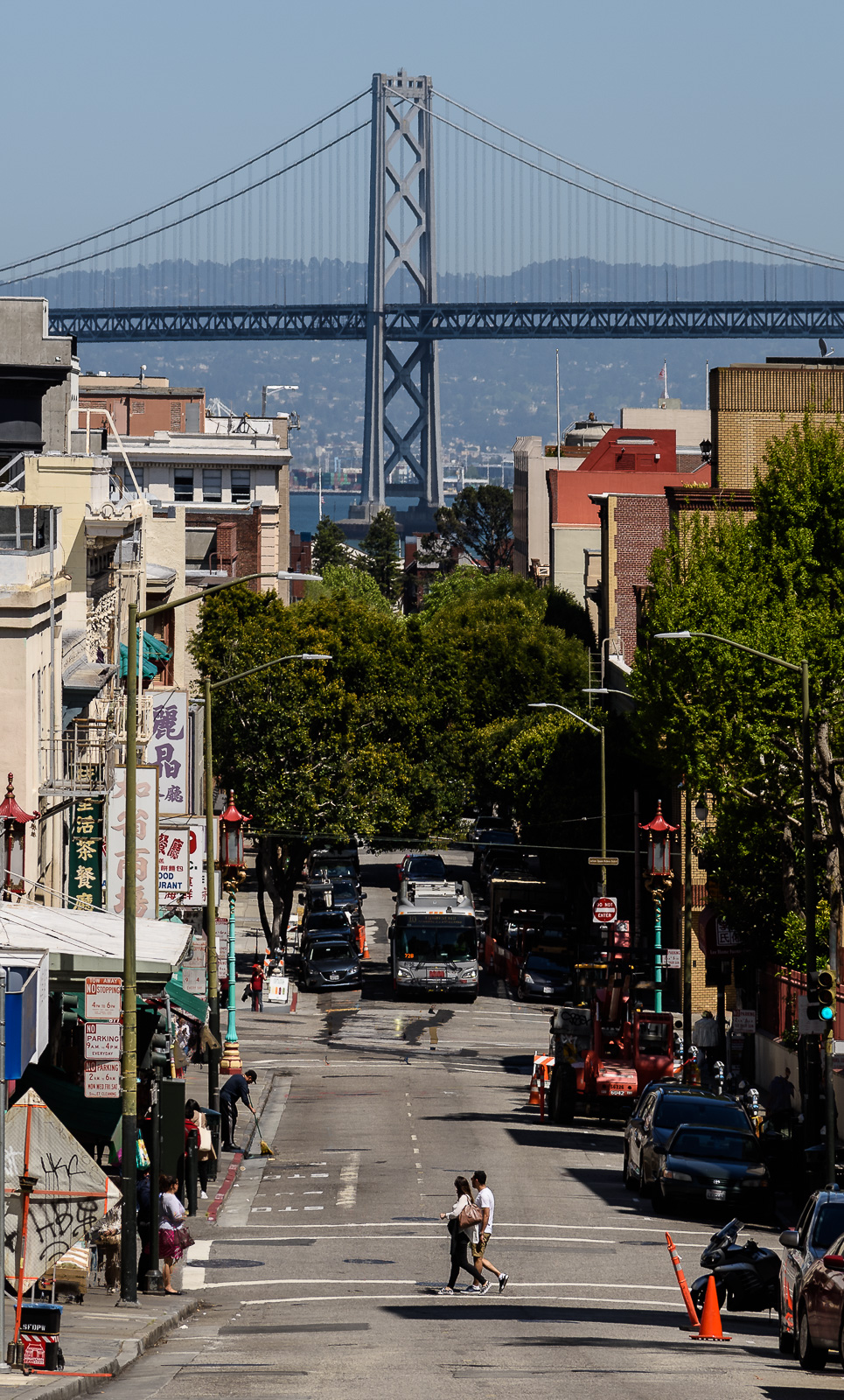 Jackson St looking to the Bay Bridge, SF