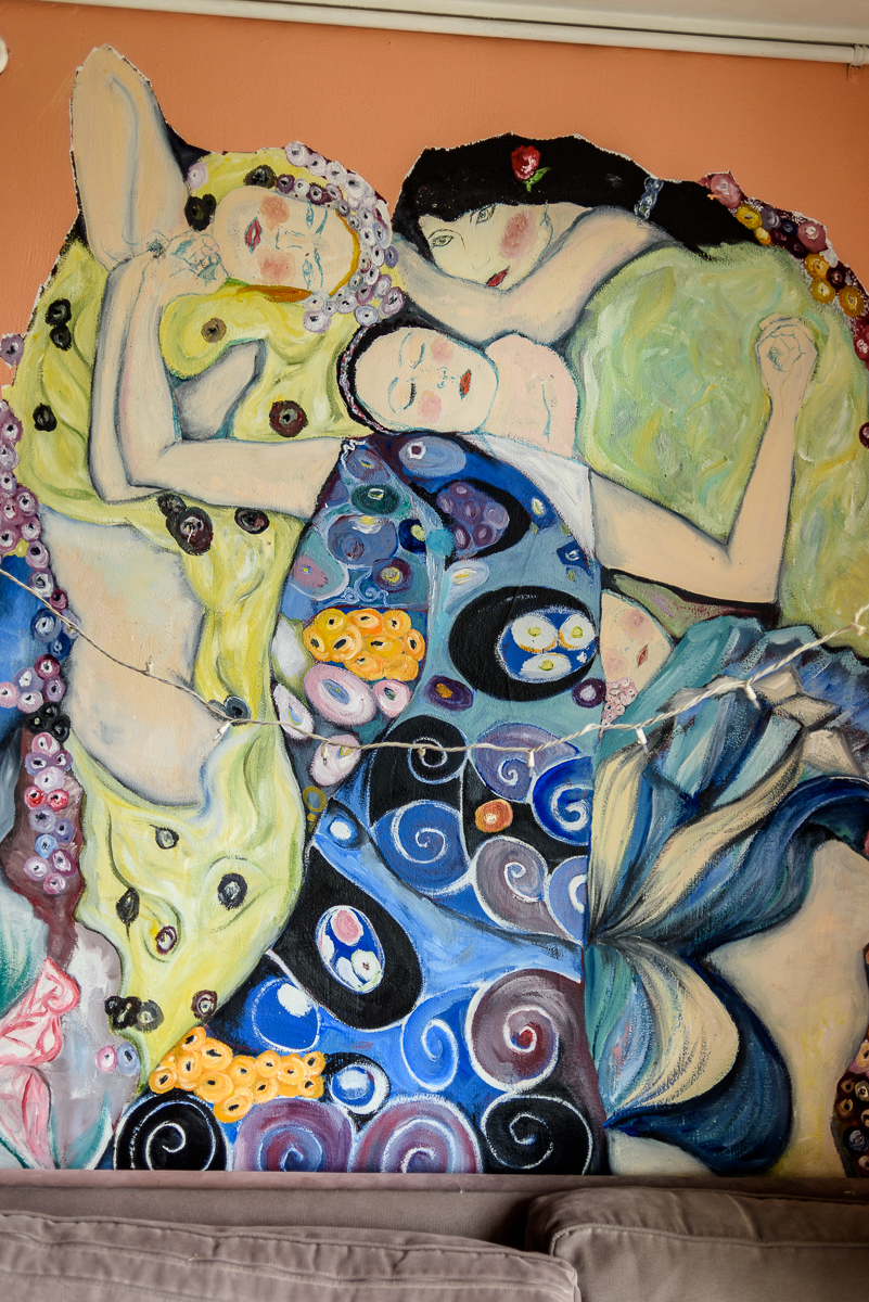 A Klimt reference? I don't have the artist or title, unfortunately.