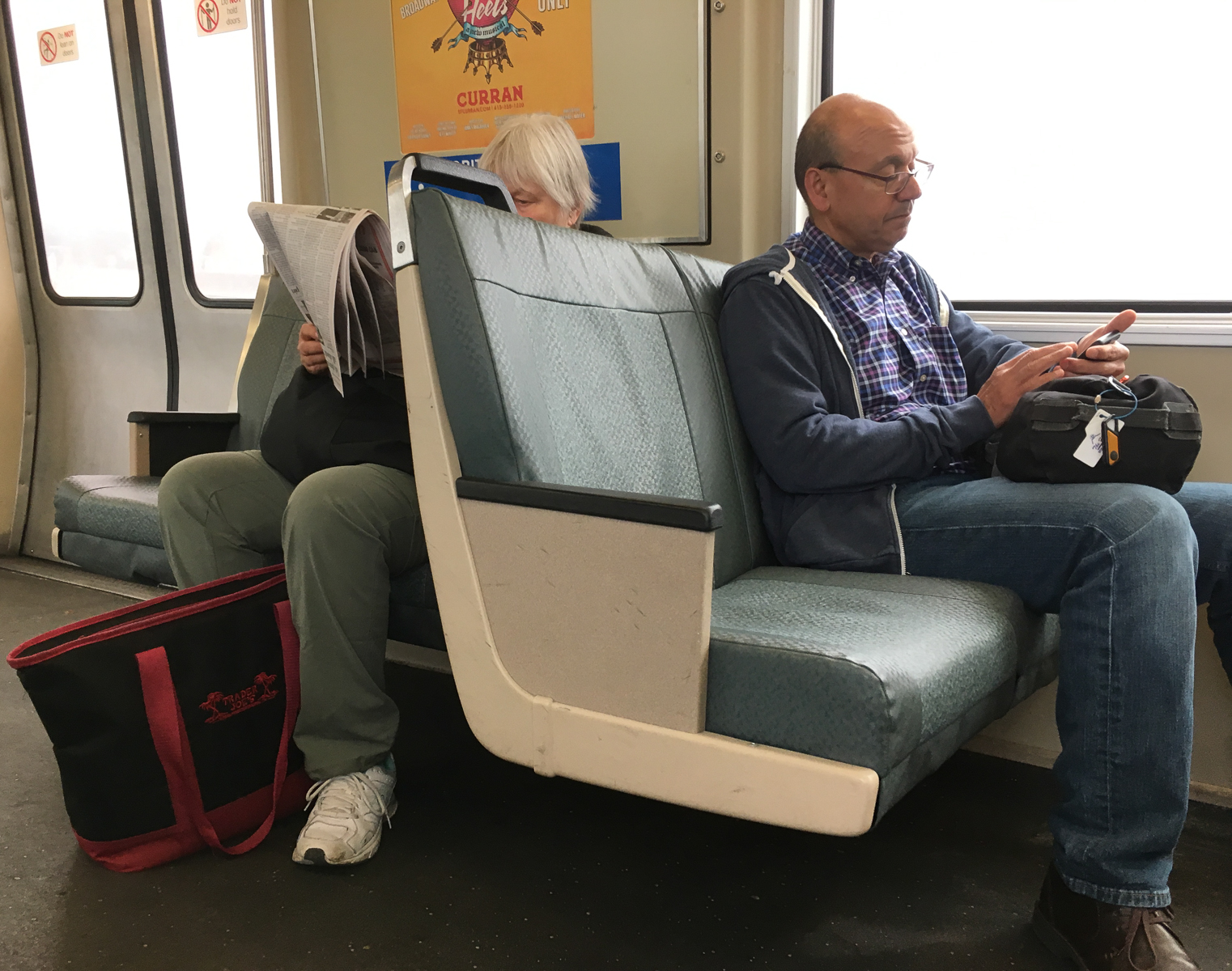 Reading on the BART - the old way and the new