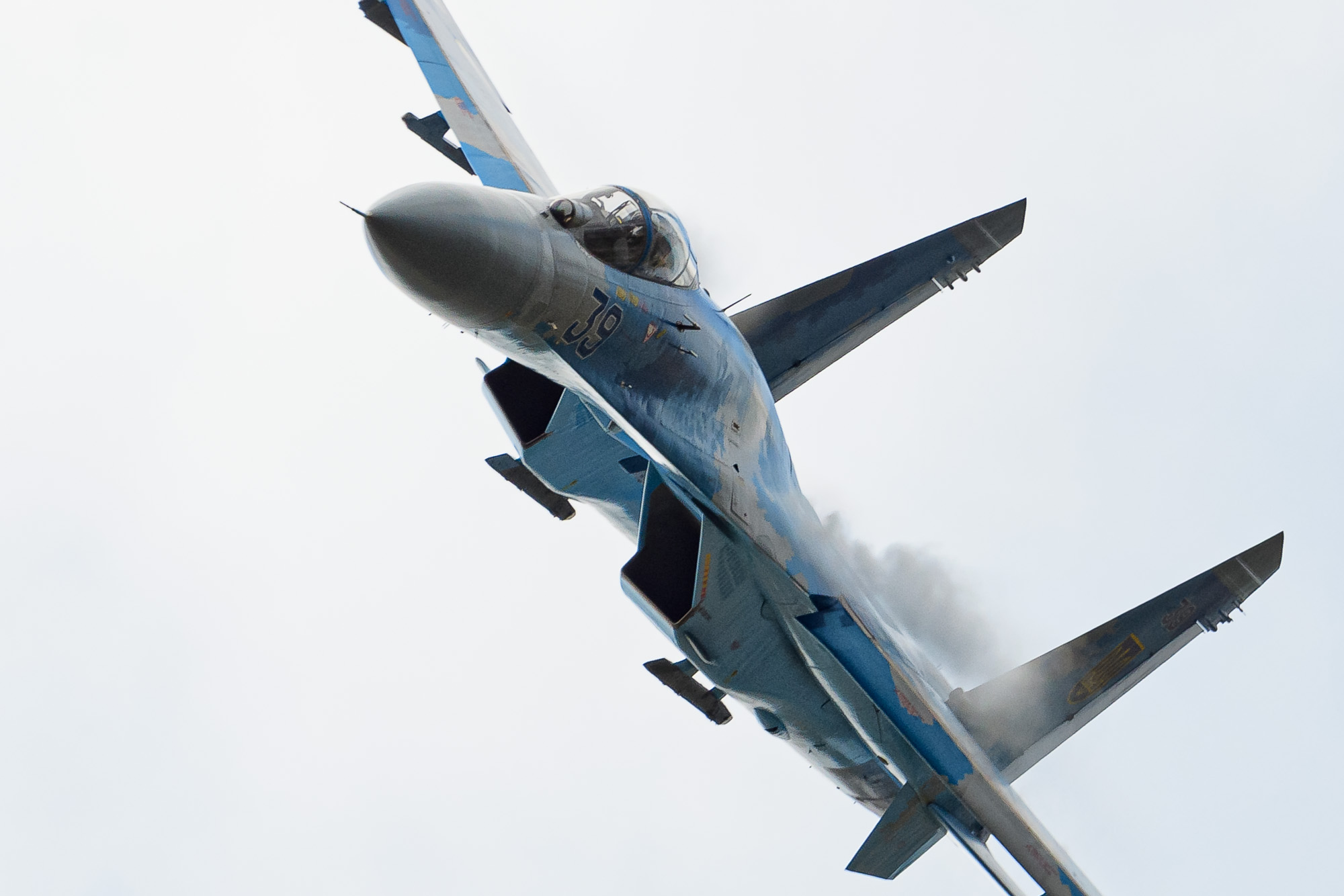 Sukhoi SU-27/P single seat fighter Flanker-B, Ukrainian Air Force