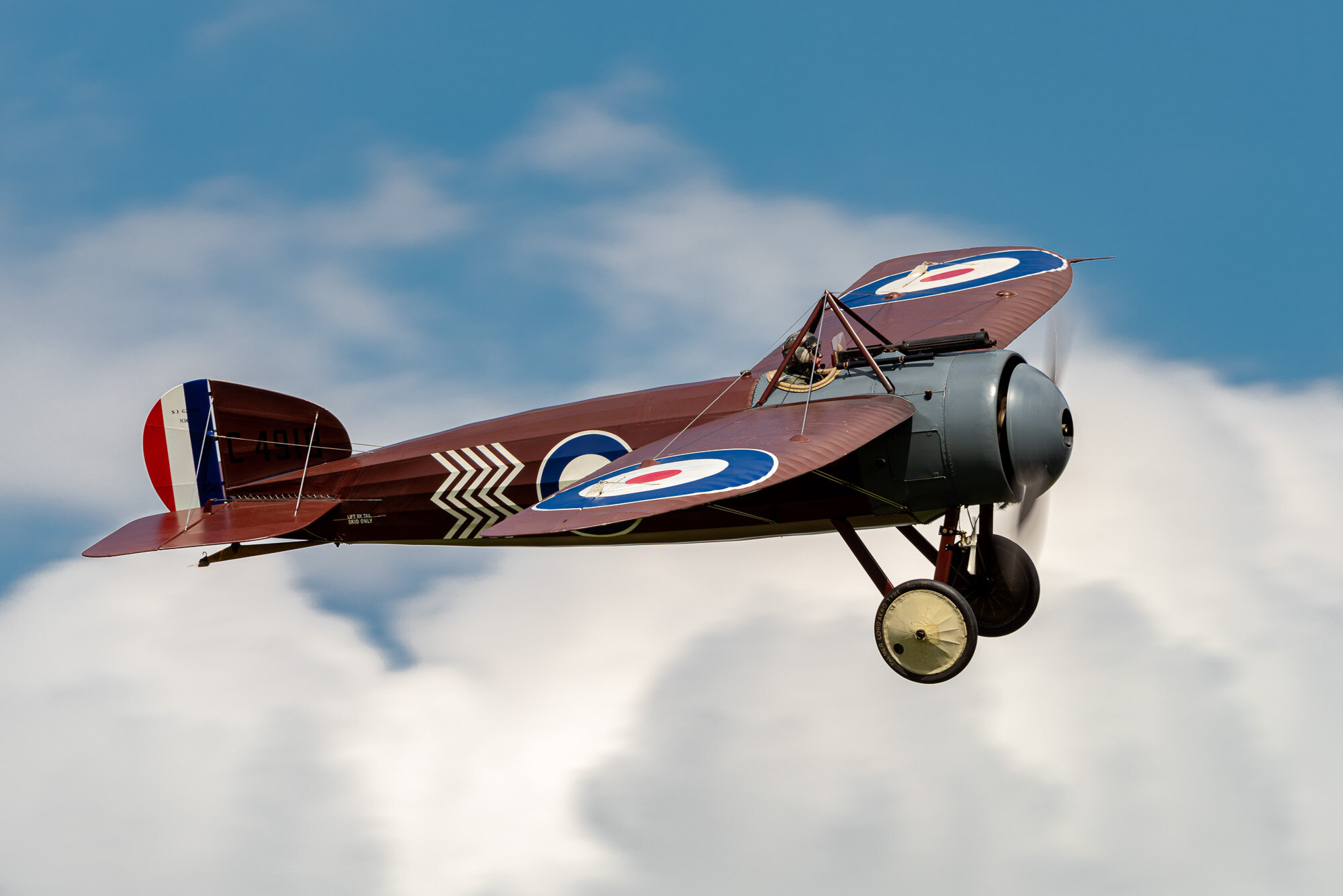 Bristol Monoplane of the Shuttleworth collection. Nikon D810, 500 PF, f/10, 1/250 sec, ISO 64.
