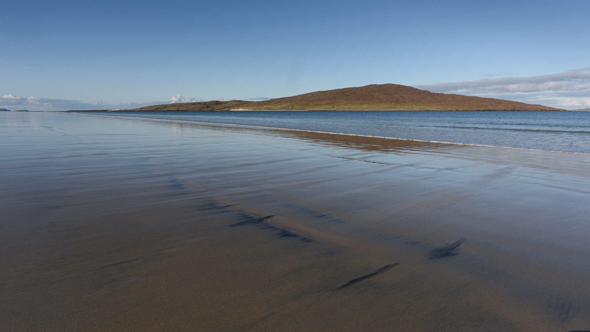 Receding tide, mid-morning - miles of golden sand, with no-one there!