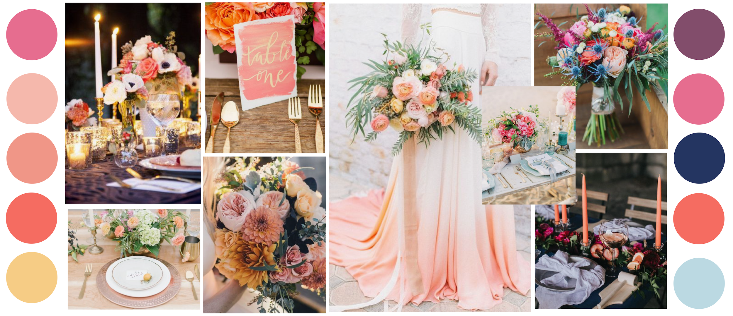 Coral Inspiration Board - by Carolyn Louise