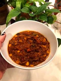 vegan whole30 chili recap