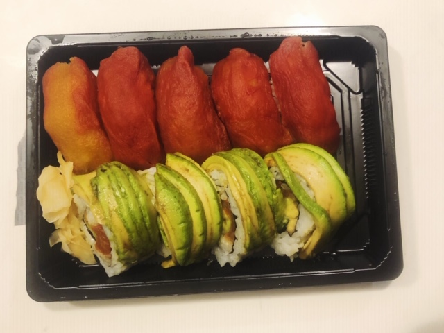 vegan sushi post run food