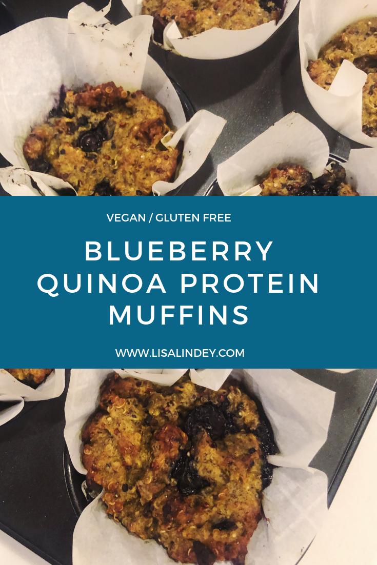 Blueberry quinoa protein muffins