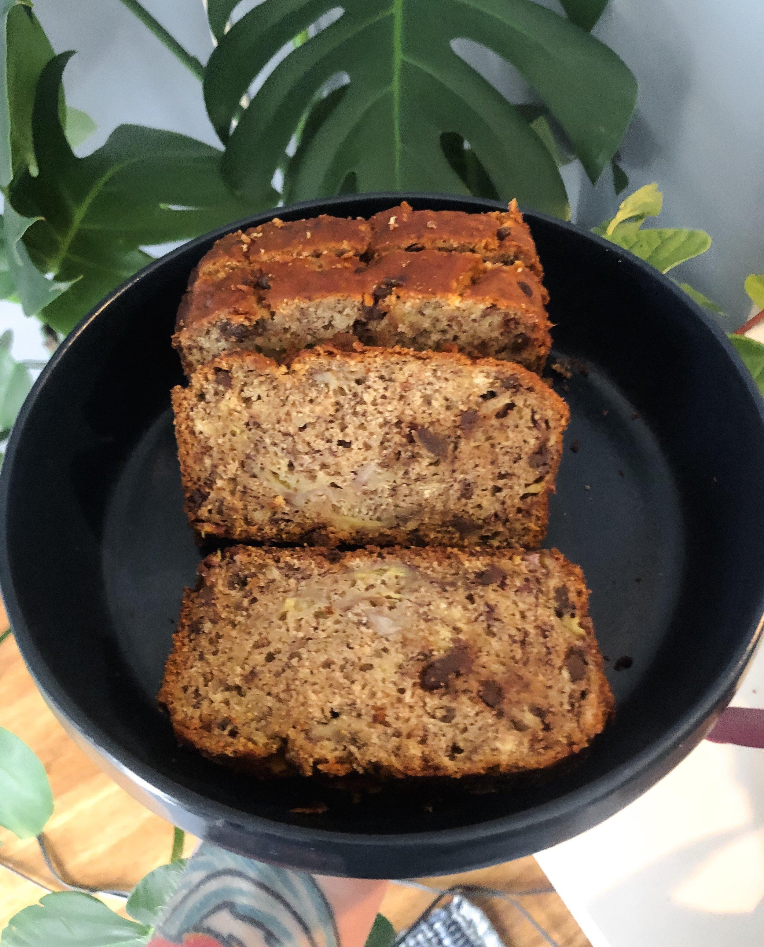 one bowl vegan gluten free chocolate chip banana bread