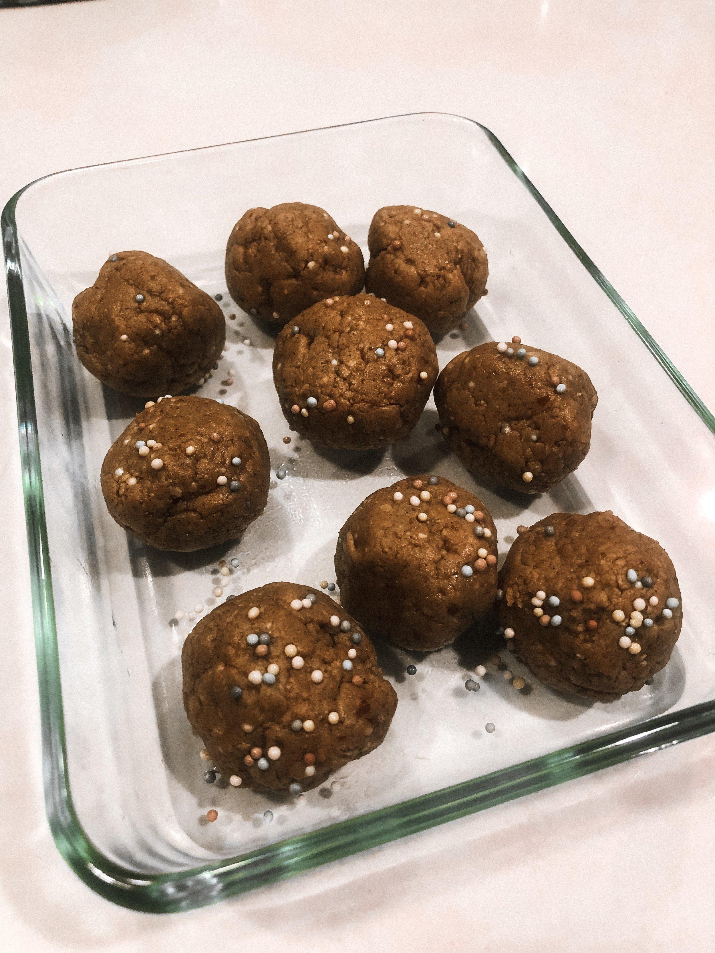 vegan gluten free refined sugar free cake batter energy ball recipe