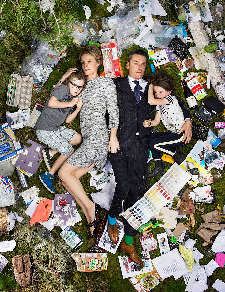 7 days of Garbage Project by Photographer Gregg Segal