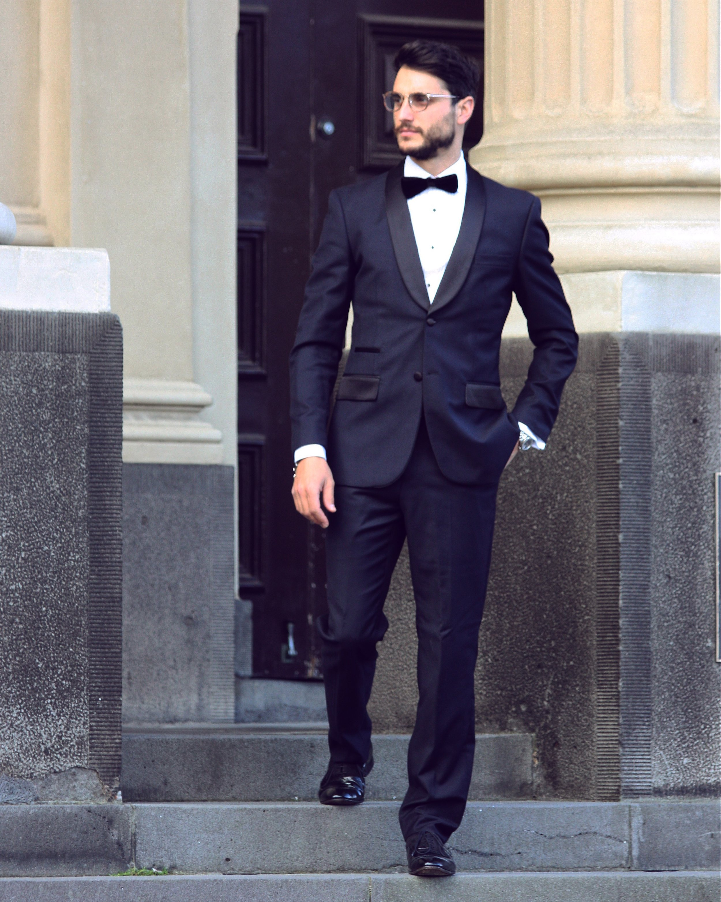 Classic Black Tie. Outfit by Soho Workshop
