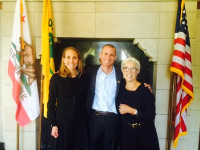 David Silver, Educational Advisor to the Mayor of Oakland, CA with Citizen Schools CA Executive Director Maria Drake