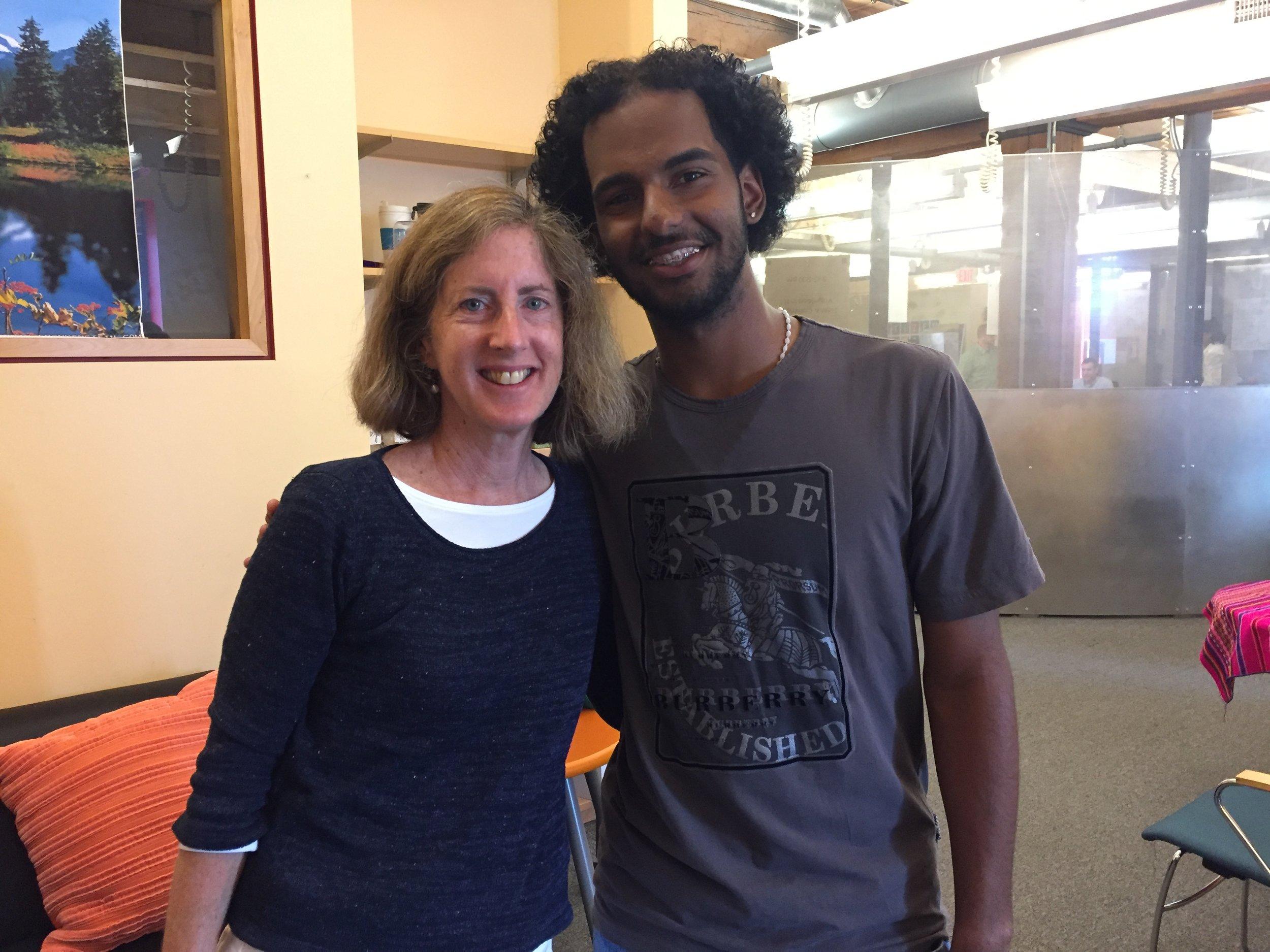 Priscilla Cohen with Jose Melo