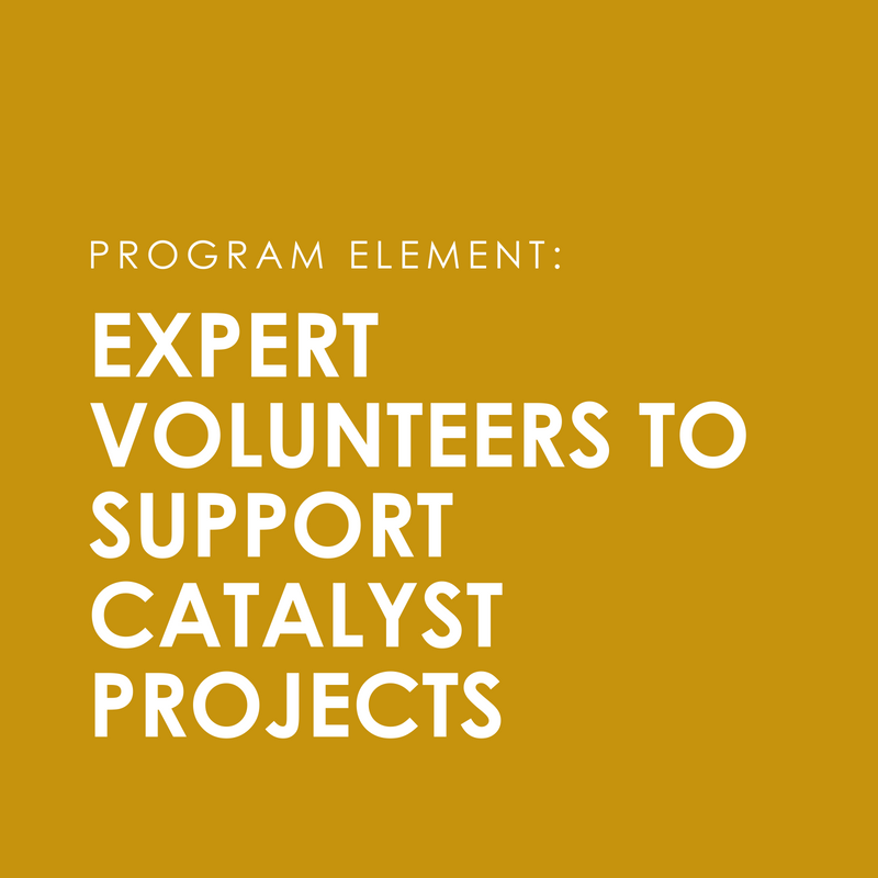Access to a  volunteer matching database  and a set of  support services  to ensure quality teacher/mentor match, and access to curricular overlay to meaningfully integrate volunteers.