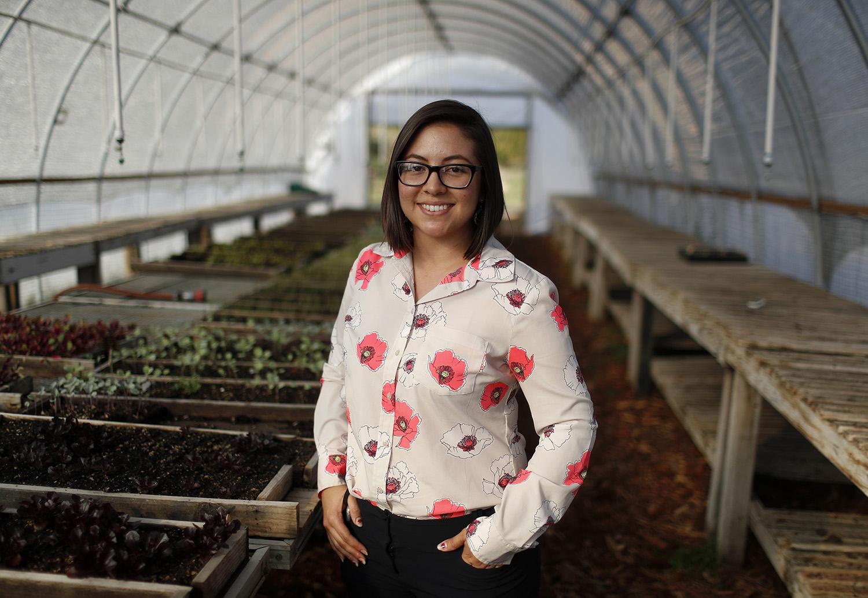 Rosa Contreras, volunteer program manager at Veggielution