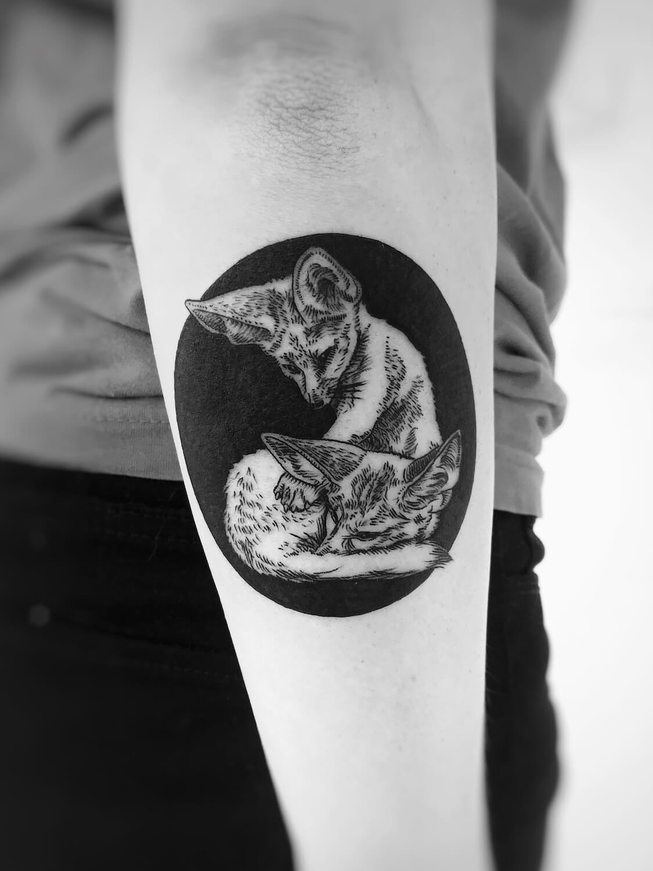 Fennek Tattoo im Studio Velbert Langenberg