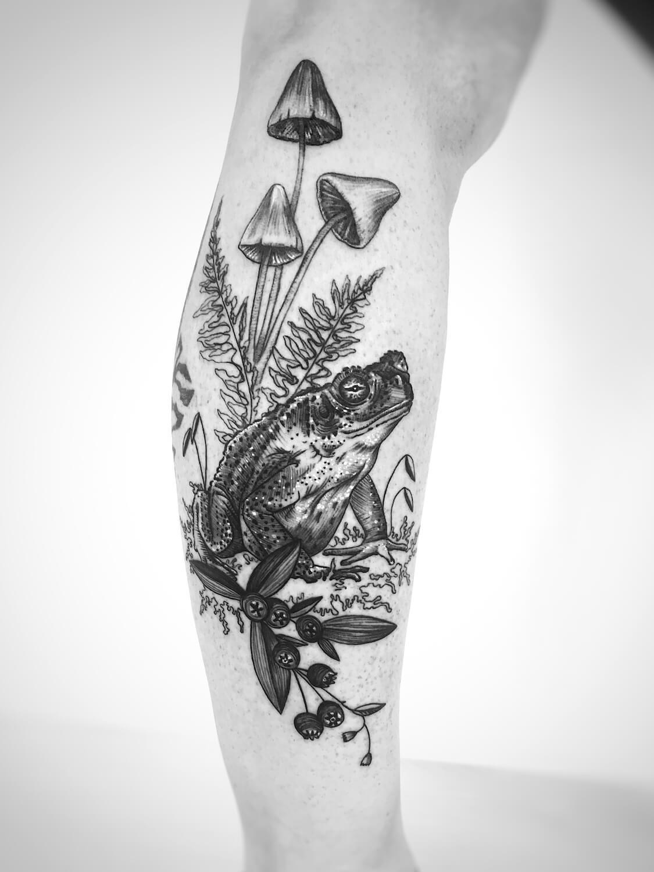 Kröte Tattoo im Studio Velbert Langenberg