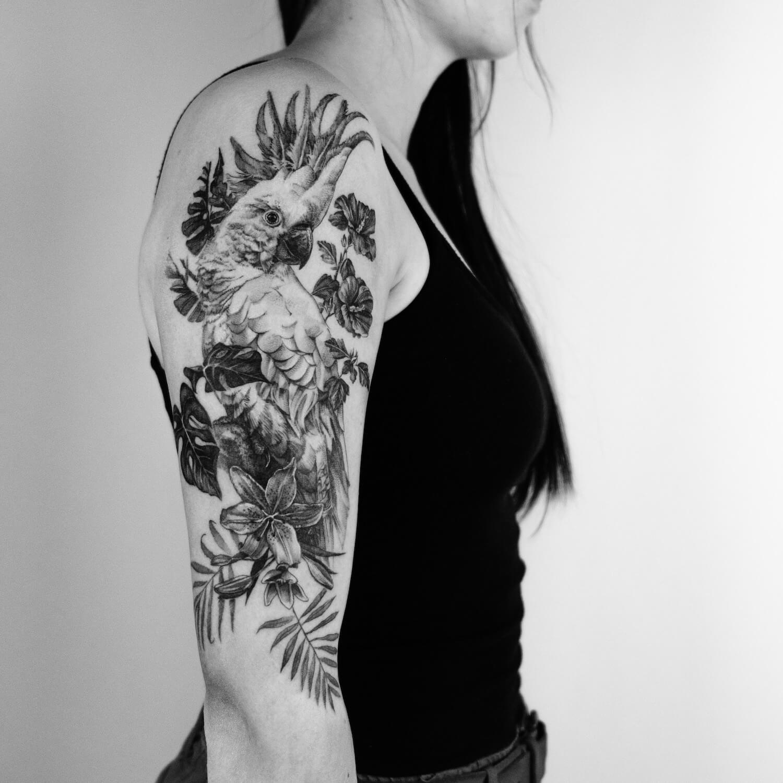 Kakadu Tattoo im Studio Velbert Langenberg