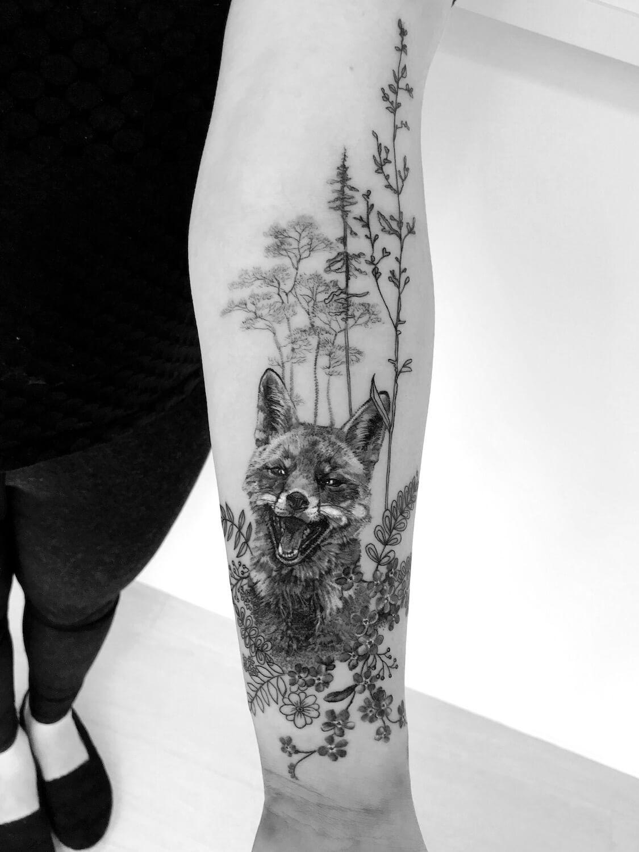 Fuchs Tattoo im Studio Velbert Langenberg
