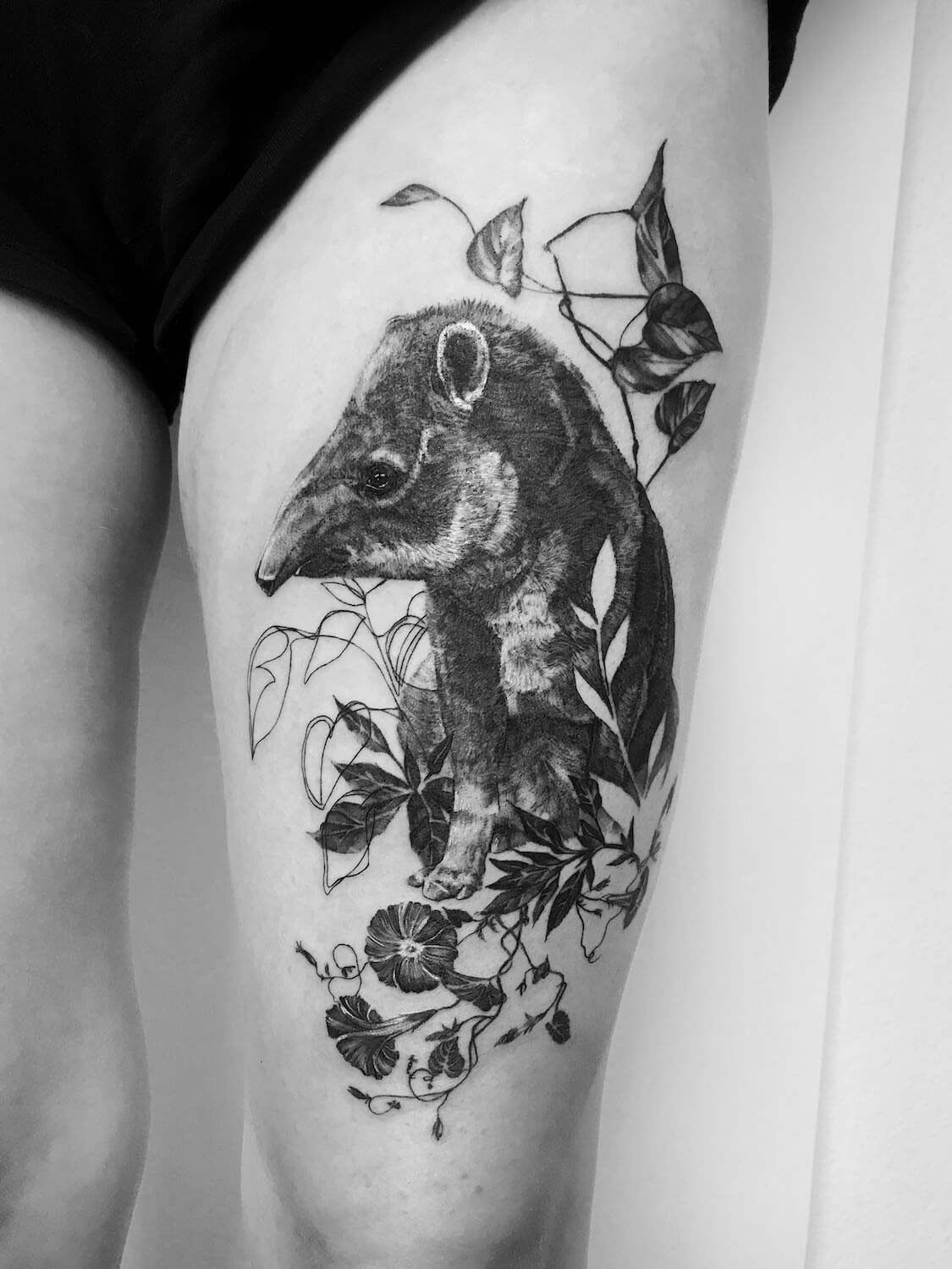Tapir Fineline Tattoo