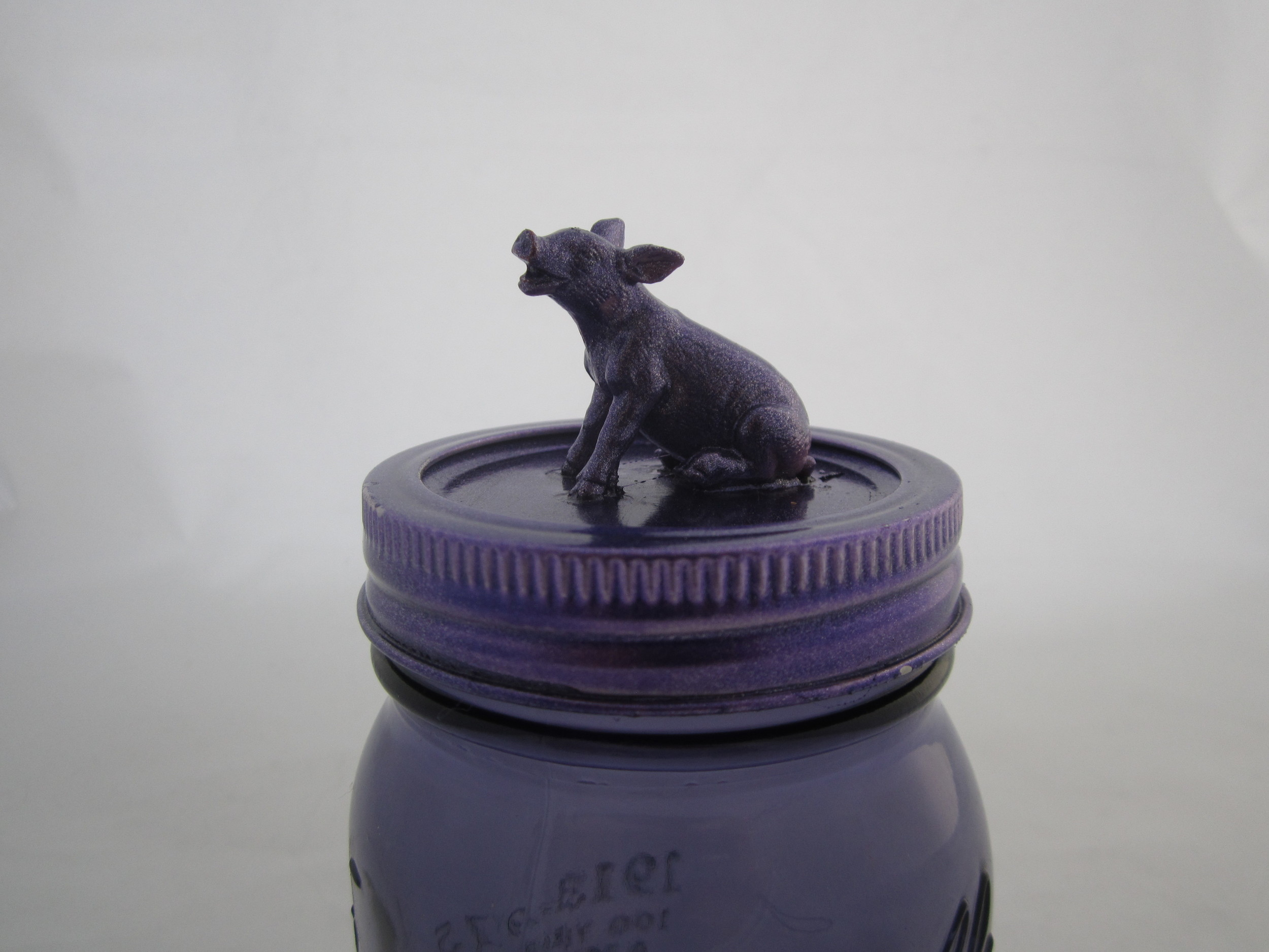 Purple Sparkly Pig Jar 3.JPG