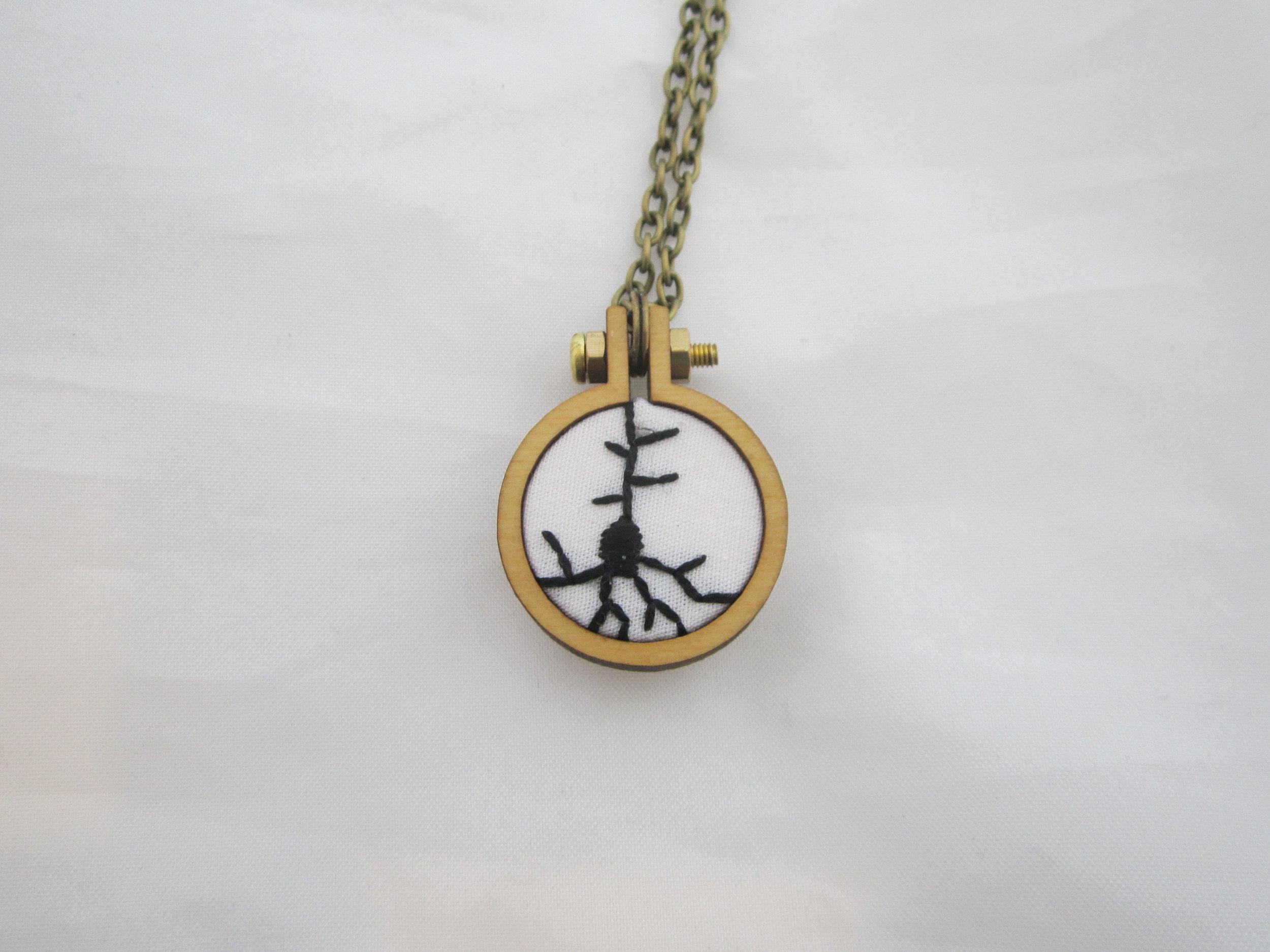 White on Black Neuron Necklace 123016 2.JPG