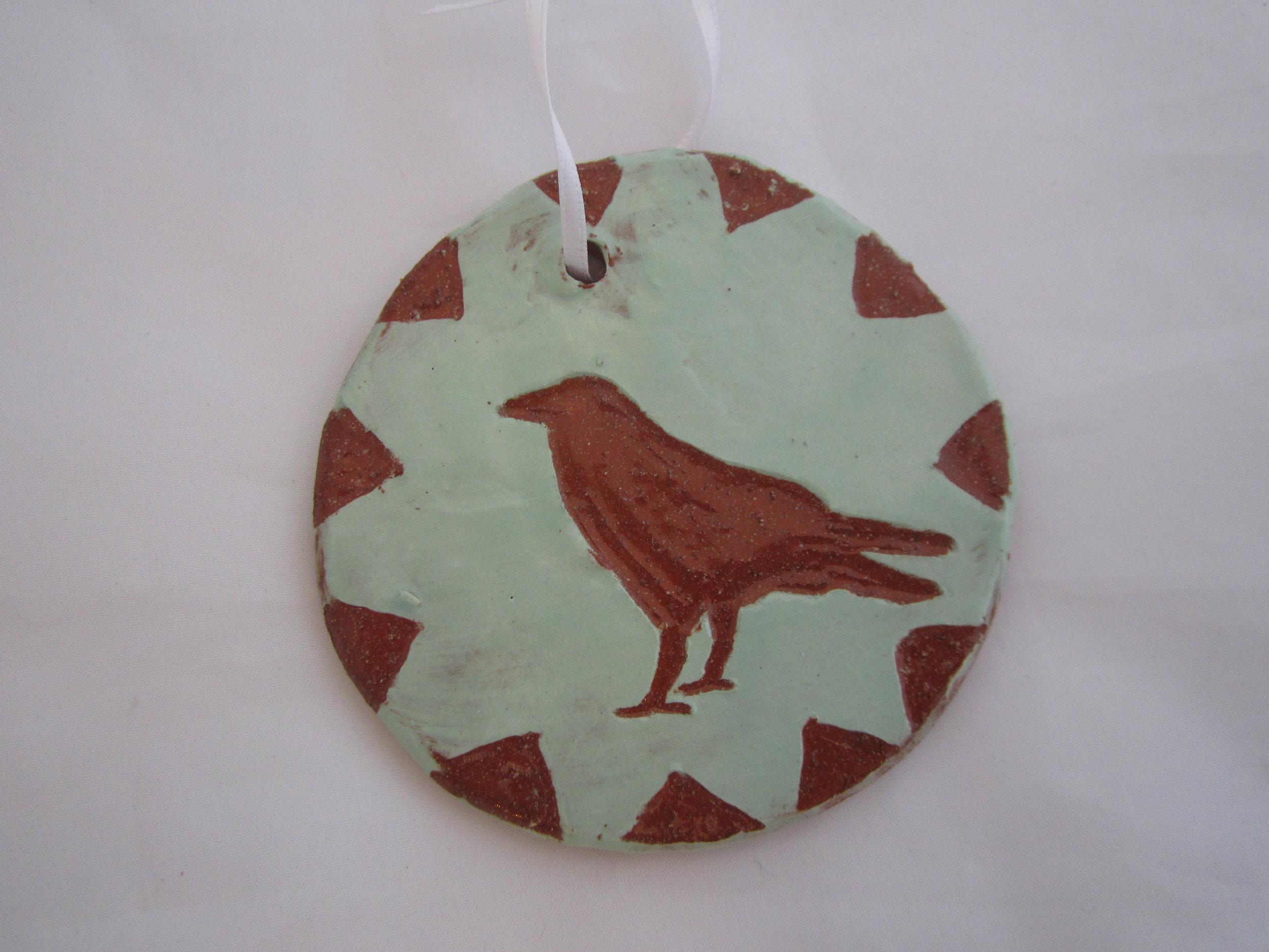 Green Crow Ornament 2.JPG