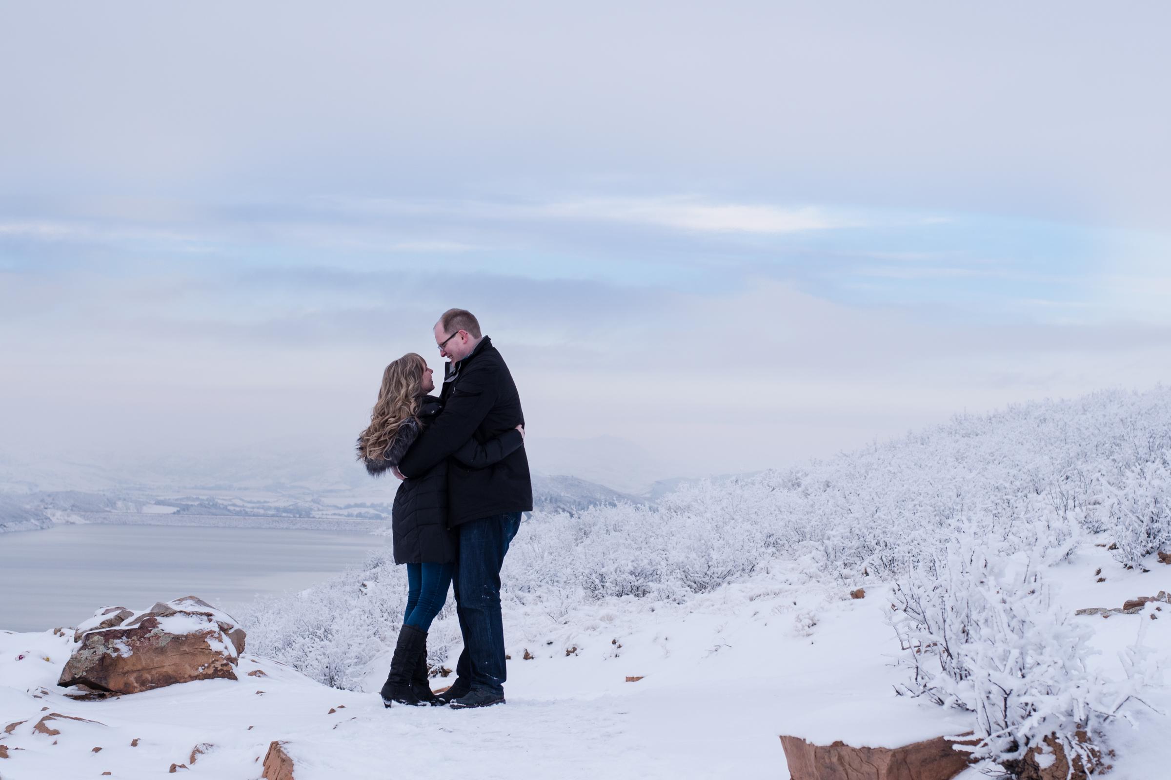 Horsetooth Reservior Engagement, Kristen Rush Photography