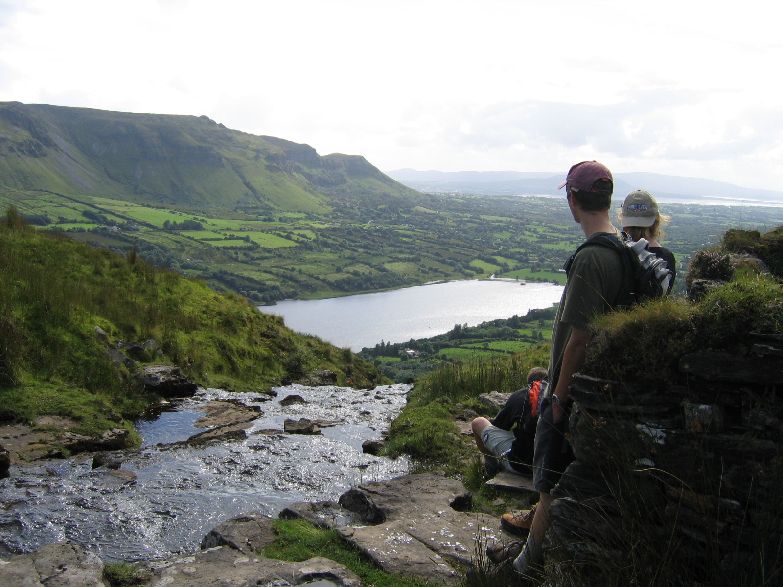 Looking down on Glencar Lake on route to the Barytes Mines
