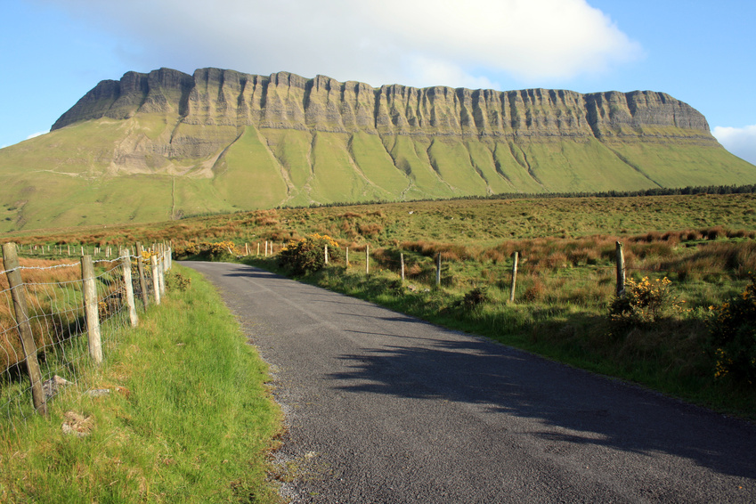 Benbulben North Face - On our way to climb to the summit