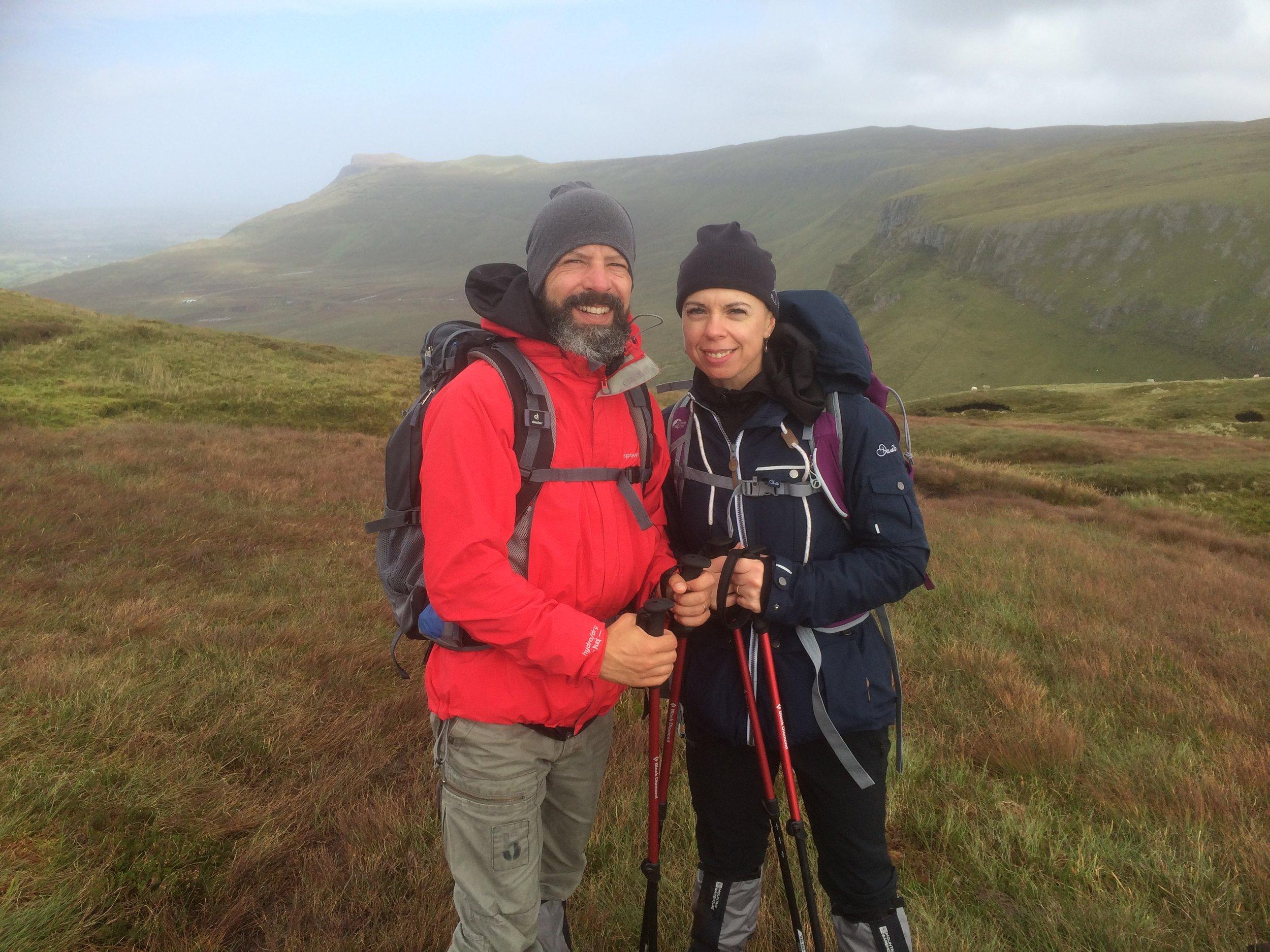 Tomasz and Agata enjoying hiking on Benbulben with High Hopes Hiking