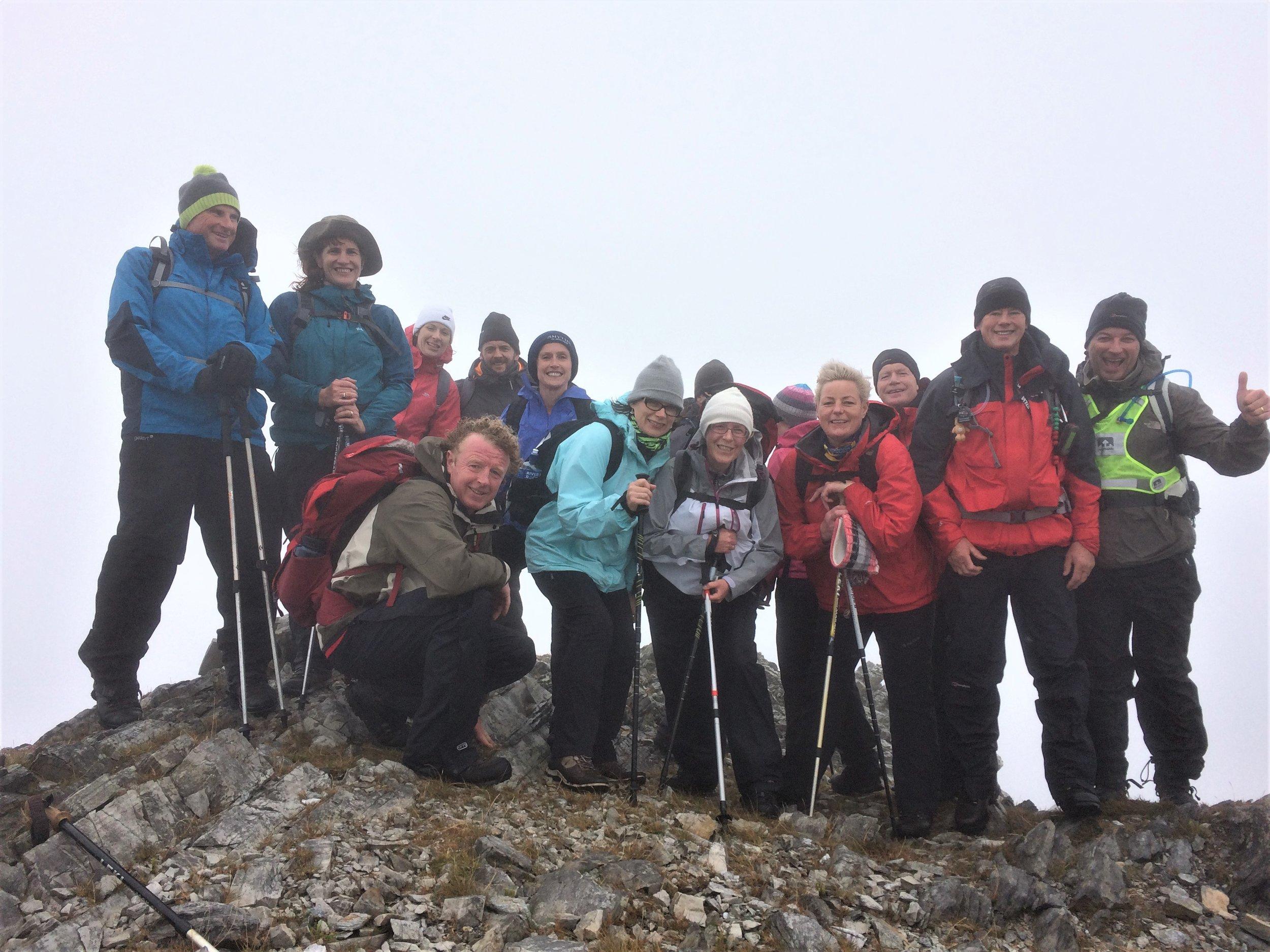 On the summit of Benbrack .