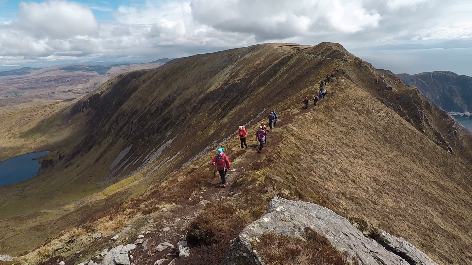 """Slieve League - hiking on the """"One man pass"""""""