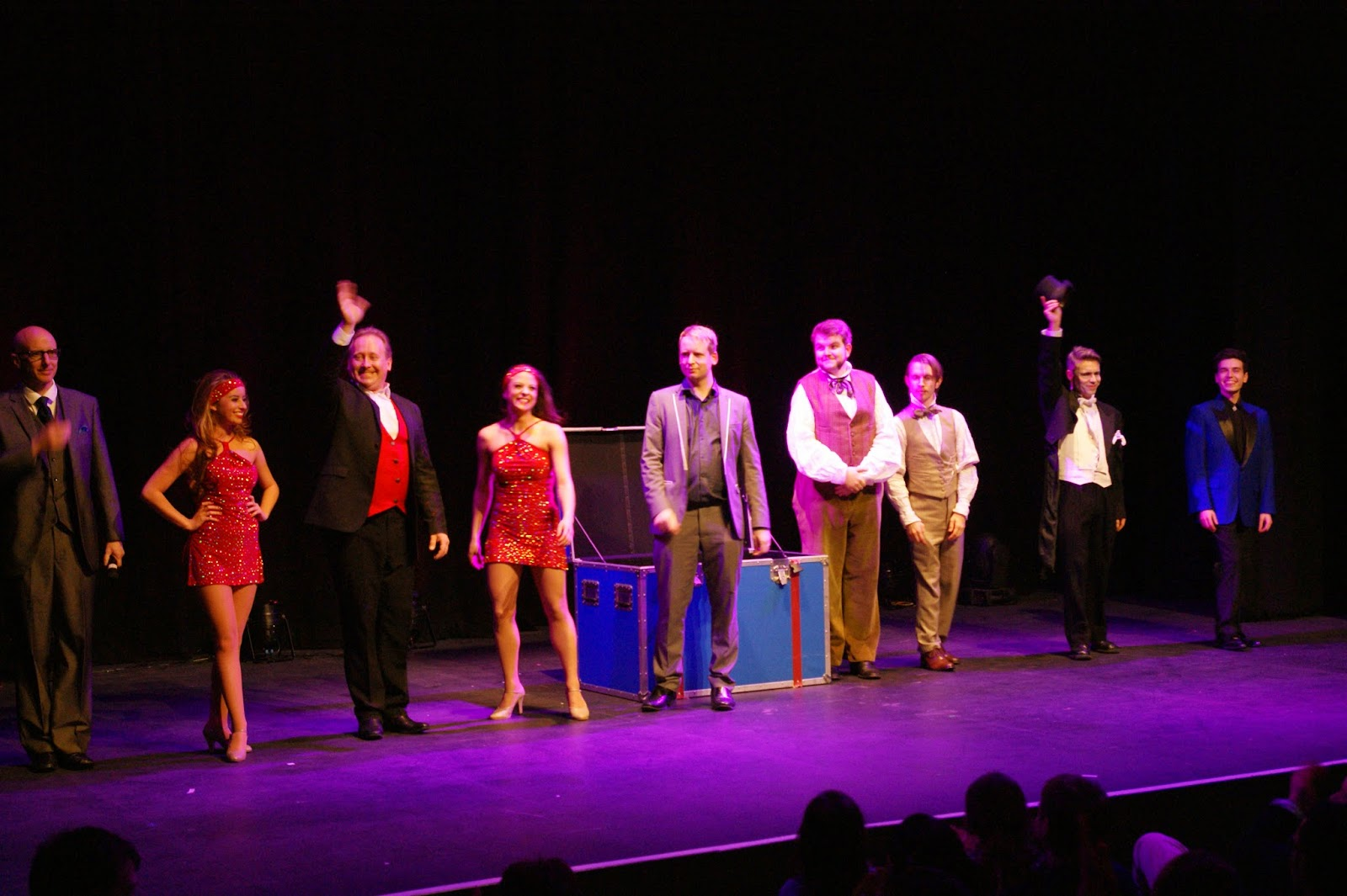 The Cast: Handsome Jack, Guy Barrett & Company, Andi Gladwin,Morgan & West, Rod Laver & Edward Hilsum.(Photography: Kevin Creaghan).